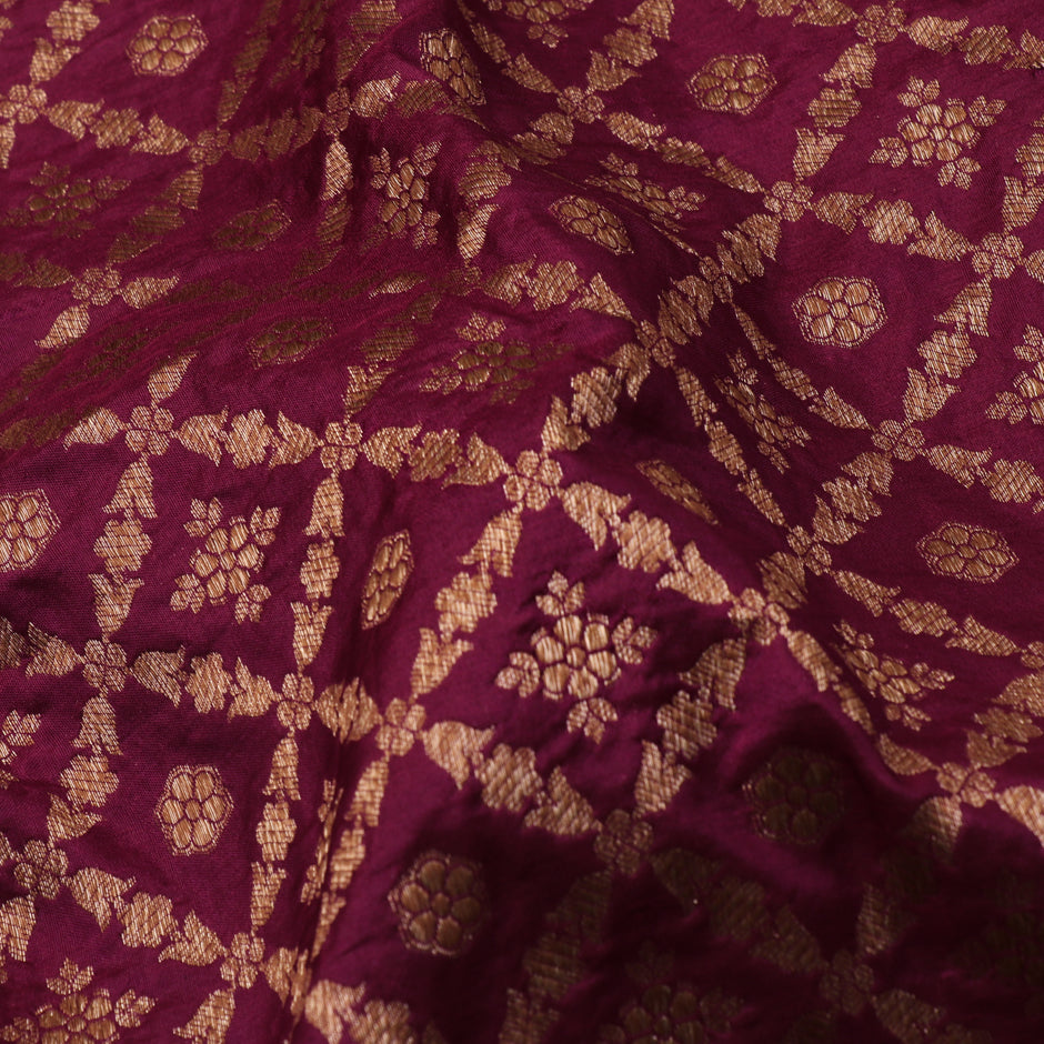 Kanakavalli Brocade Silk Blouse Length 200-06-70009 - Fabric View