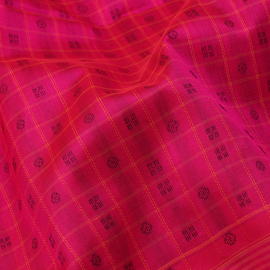 Kanakavalli Silk/Cotton Sari 071-08-84512 - Fabric View