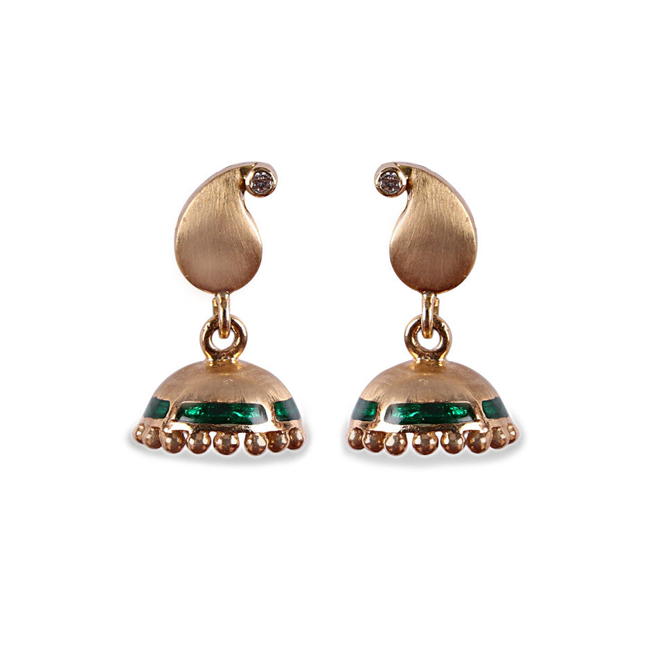 Ahalya Gold & Diamond Baby Jhumka Earrings 0208060038A1 - Cover View
