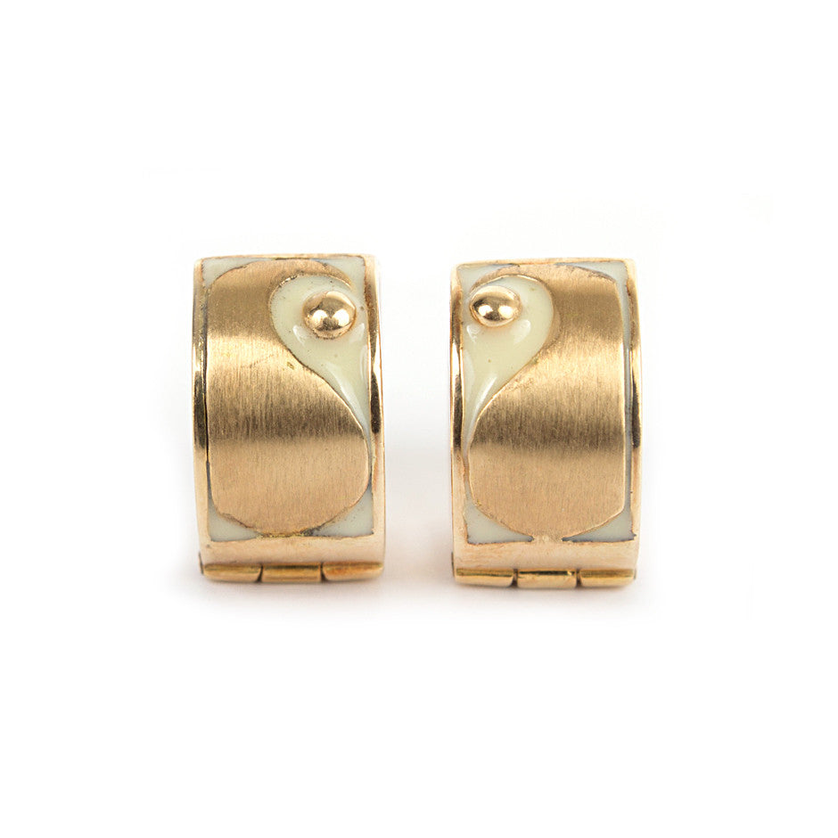 Ahalya Gold & Enamel Earrings 0208060027A1 - Cover View