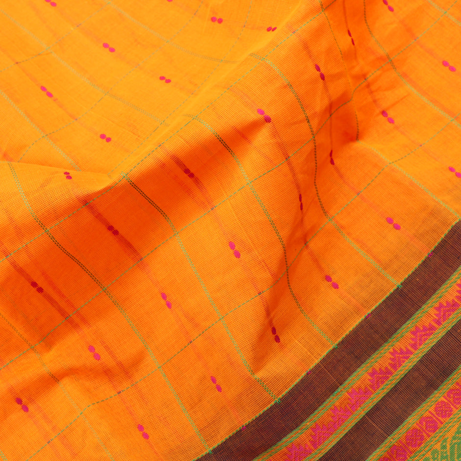 Kanakavalli Kanchi Cotton Sari 071-09-56499 - Fabric View