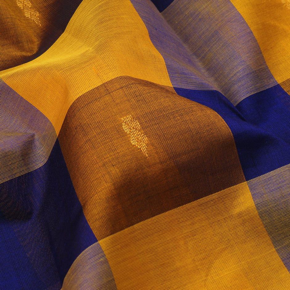 Kanakavalli Silk/Cotton Sari 550-08-90946 - Fabric View