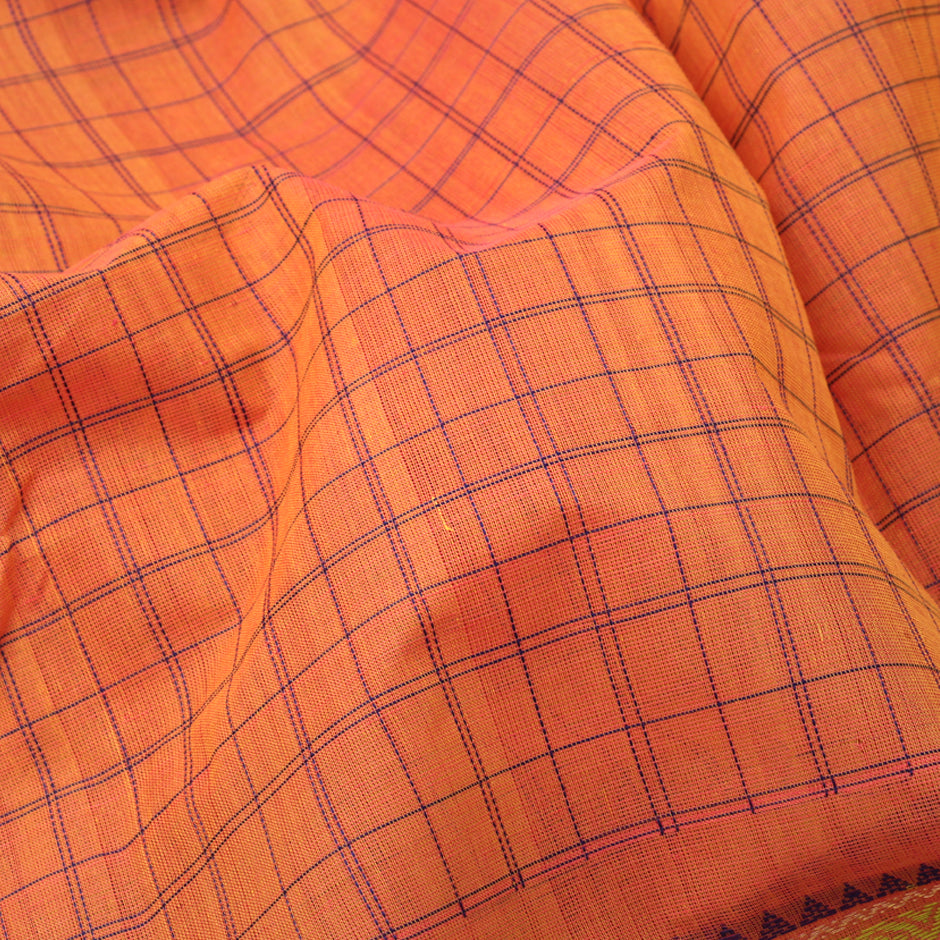 Kanakavalli Kanchi Cotton Sari 071-09-92239 - Fabric View