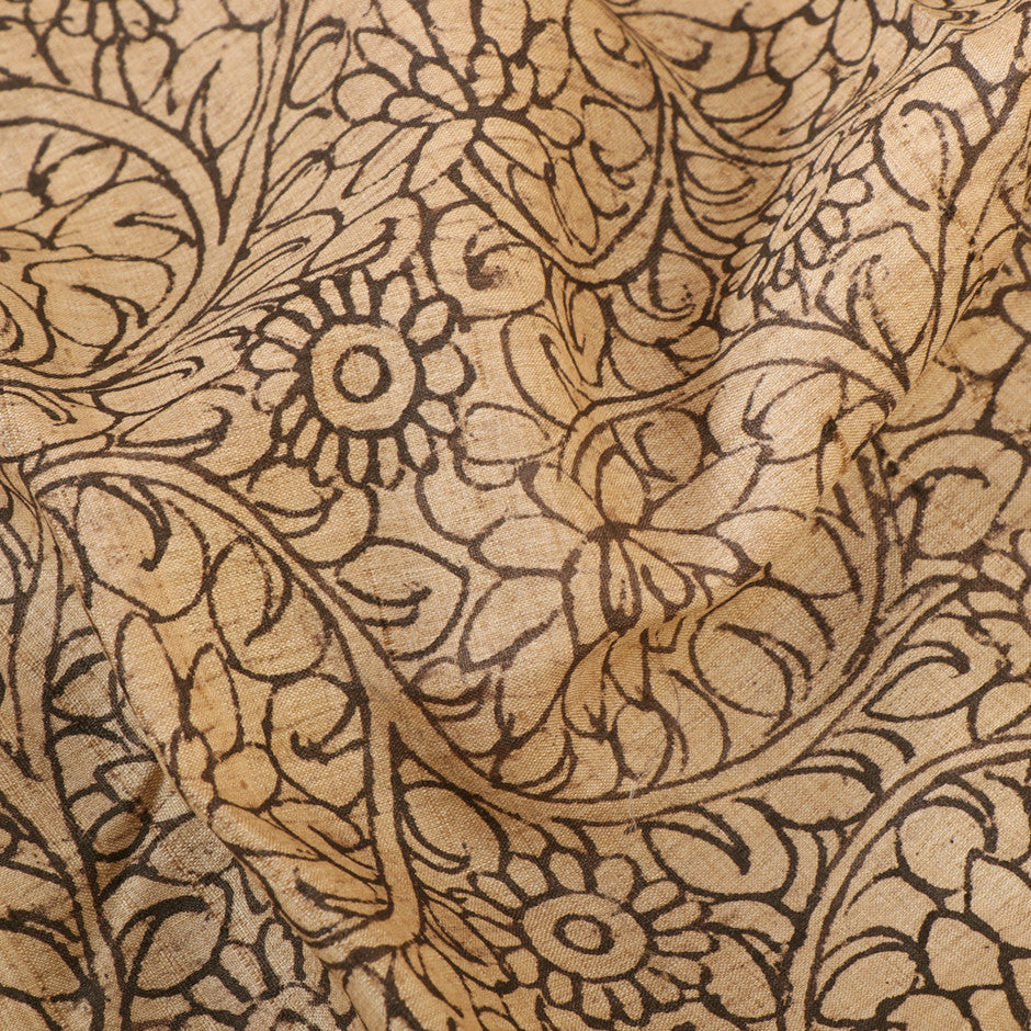 Kanakavalli Kalamkari  Tussore Blouse Length 370-06-24538 - Fabric View