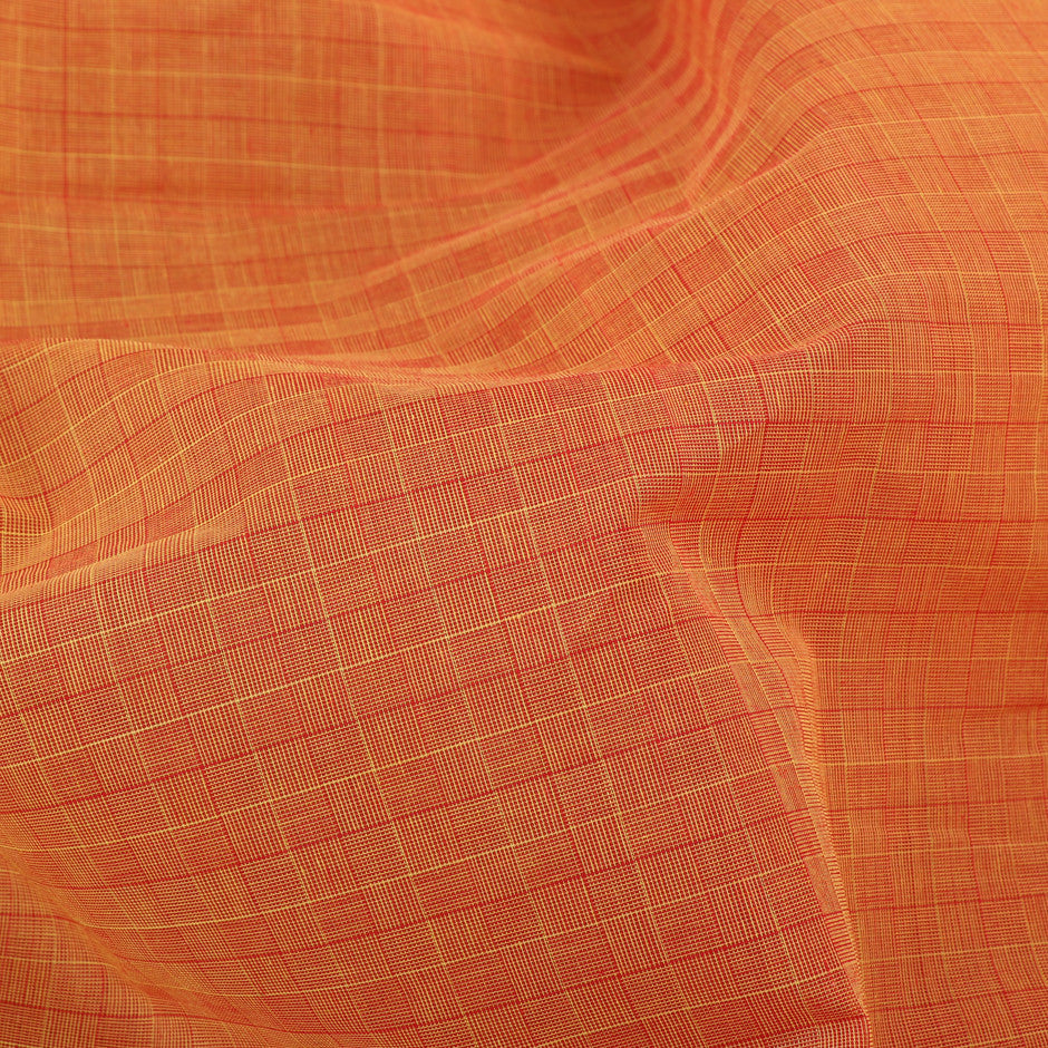 Kanakavalli Mangalgiri Cotton Sari 260-11-27101 - Fabric View