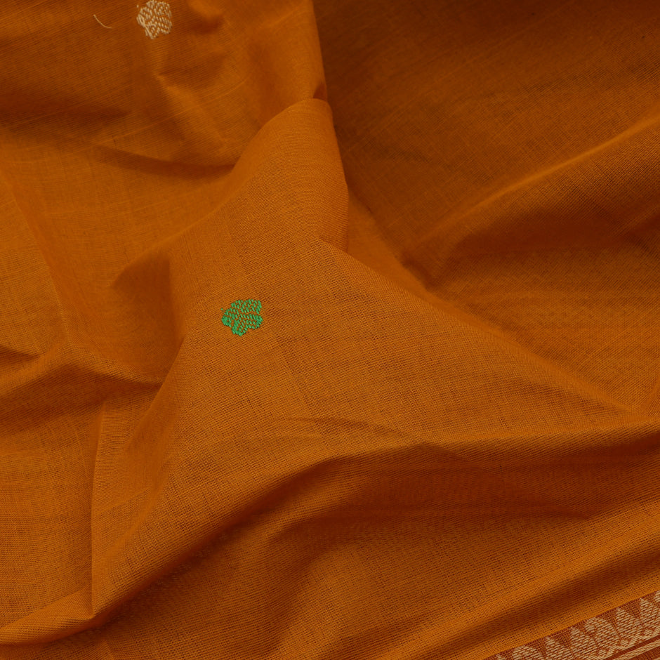 Kanakavalli Kanchi Cotton Sari 071-09-56411 - Fabric View