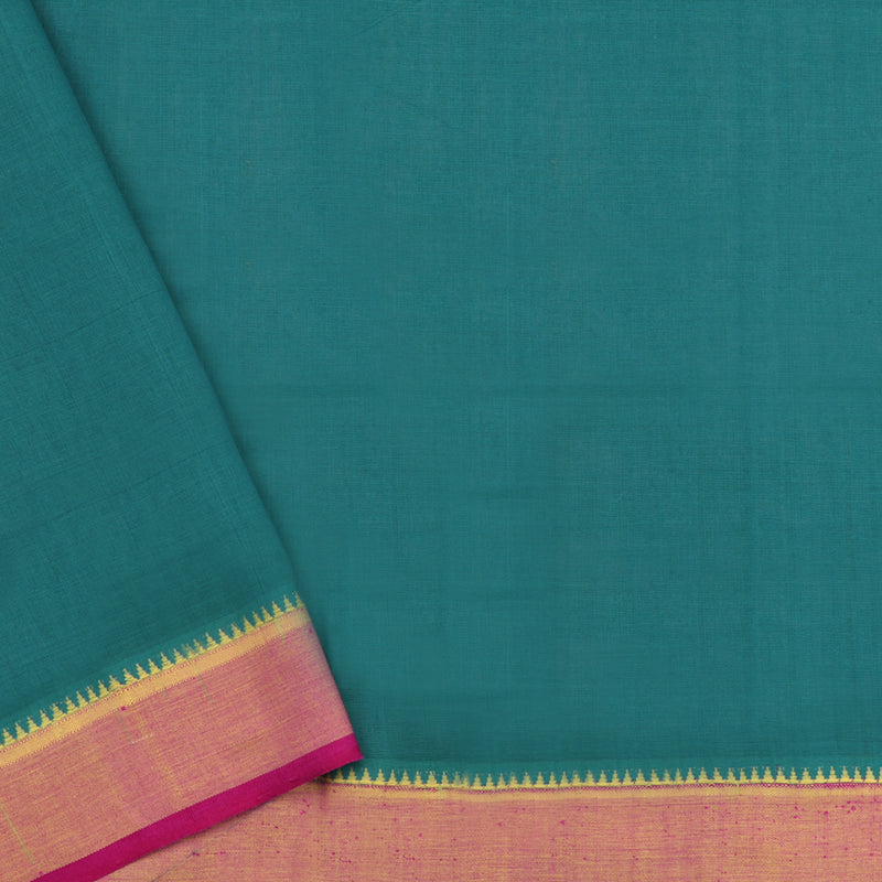 Kanakavalli Mangalgiri Cotton Sari 260-11-53574 - Blouse View