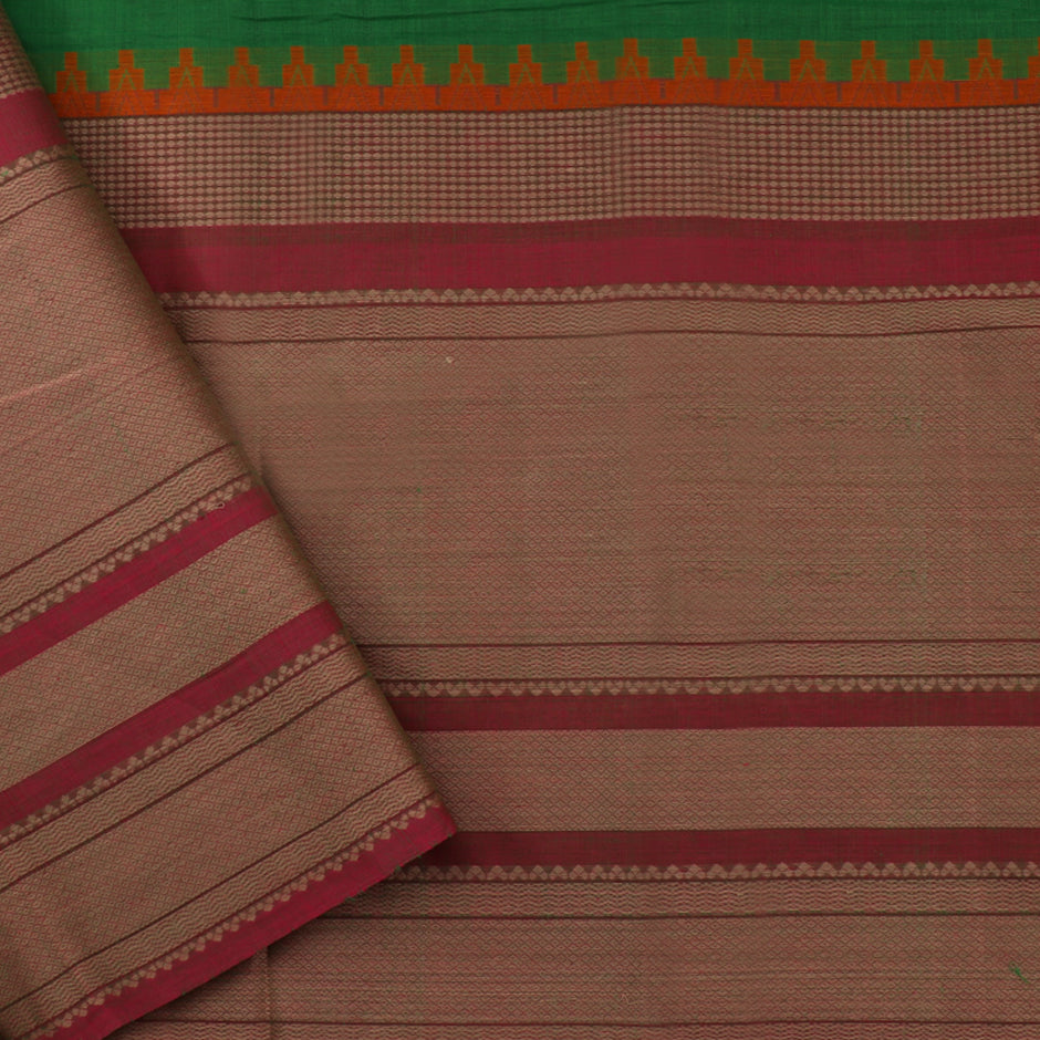 Kanakavalli Kanchi Cotton Sari 071-09-35651 - Blouse View