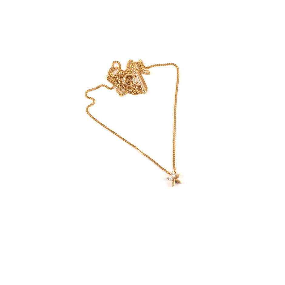 Ahalya Gold & Marq. Diamond Baby Pendant With Chain 0208070001A1 - Detailed View