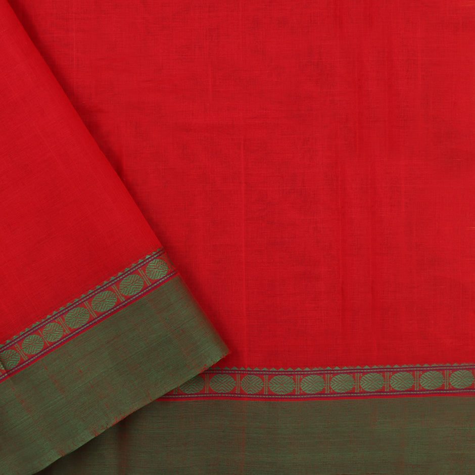 Kanakavalli Kanchi Cotton Sari 071-09-56374 - Blouse View