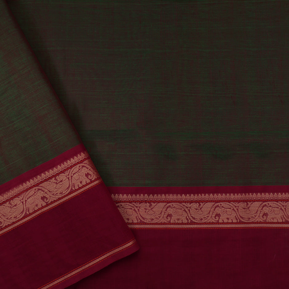 Kanakavalli Kanchi Cotton Sari 071-09-45756 - Blouse View
