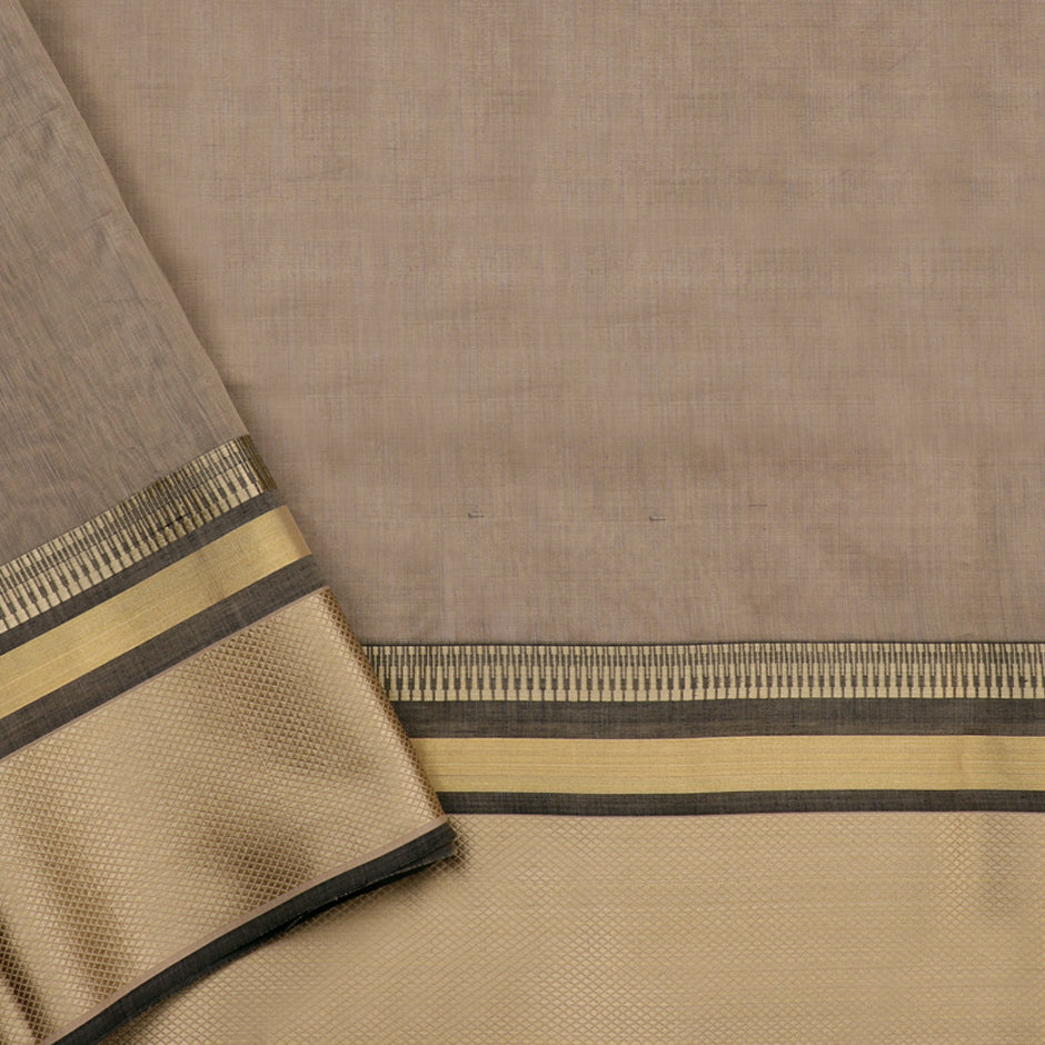 Ecoloom Maheshwari Silk/Cotton Sari 017-02-1493 - Blouse View