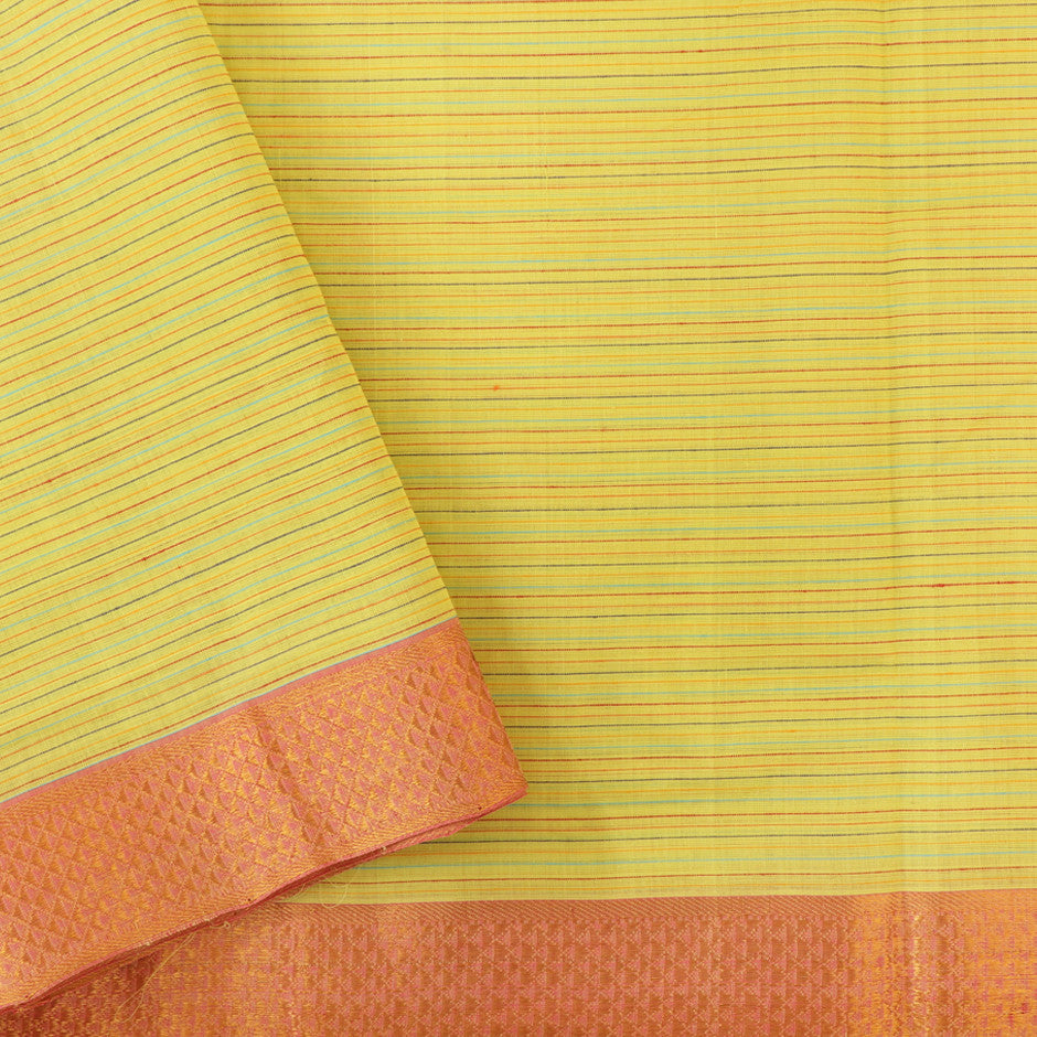 Kanakavalli Mangalgiri Cotton Sari 260-11-26467 - Blouse View