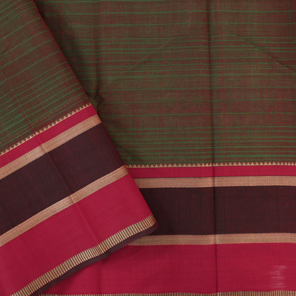 Kanakavalli Kanchi Cotton Sari 071-09-29521 - Blouse View