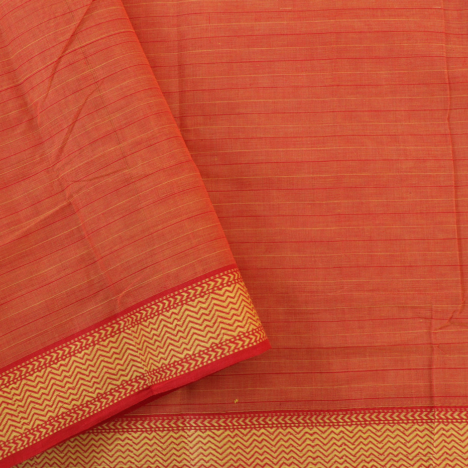 Kanakavalli Mangalgiri Cotton Sari 260-11-27101 - Blouse View