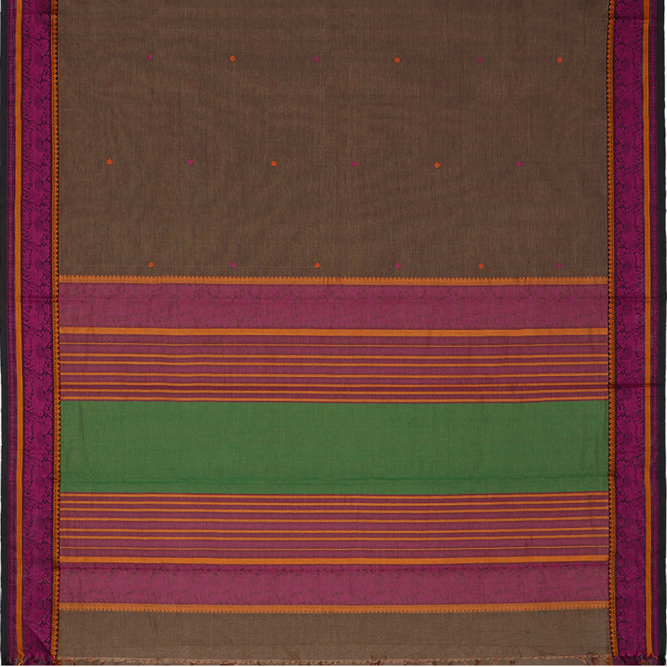 Kanakavalli Kanchi Cotton Sari 071-09-59543 - Full View