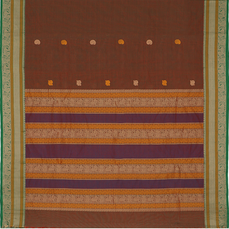 Kanakavalli Kanchi Cotton Sari 071-09-50509 - Full View