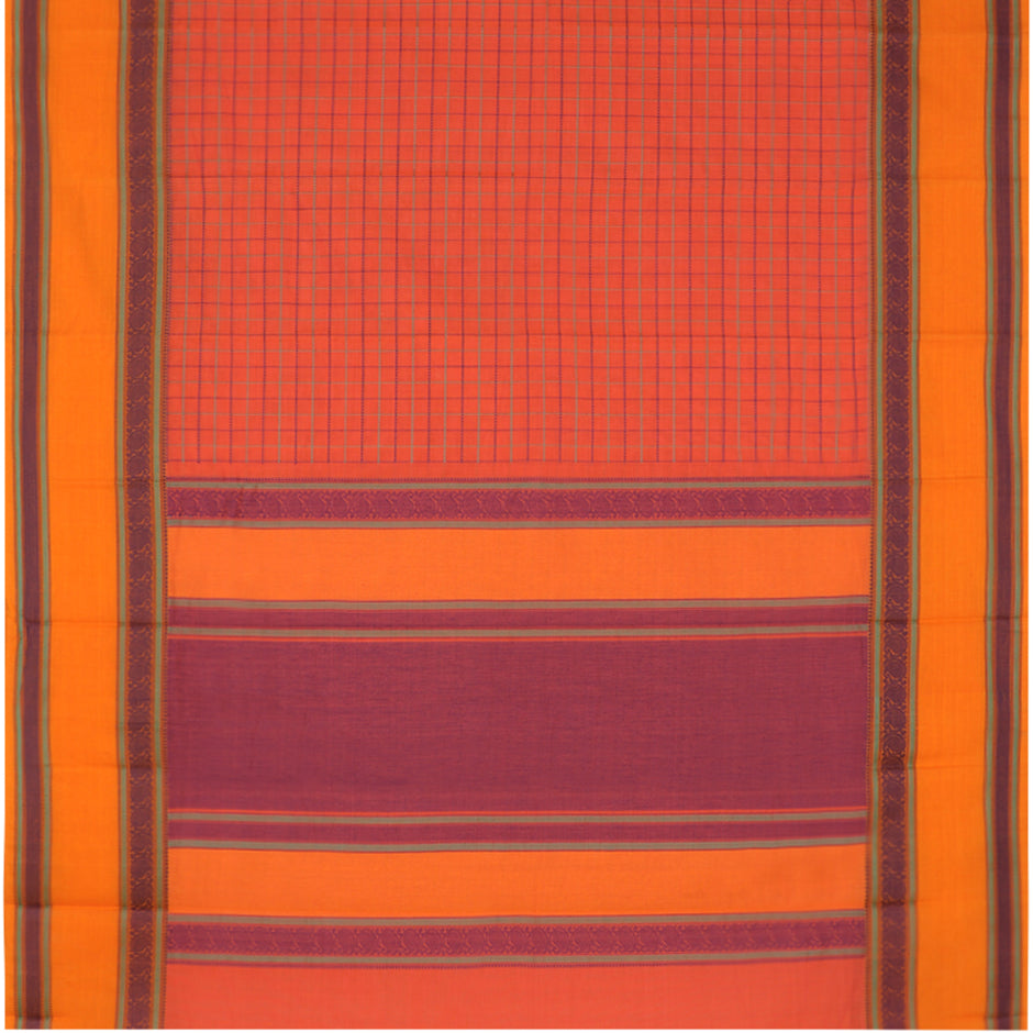 Kanakavalli Kanchi Cotton Sari 071-09-74140 - Full View