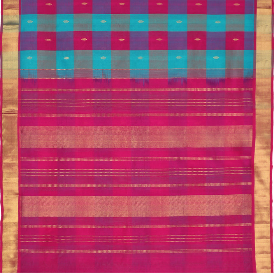 Kanakavalli Silk/Cotton Sari 550-08-87436 - Full View
