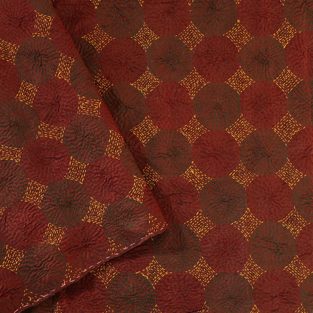 Kanakavalli Kantha Doublefaced Silk Blouse Length 460-06-30191 - Cover View