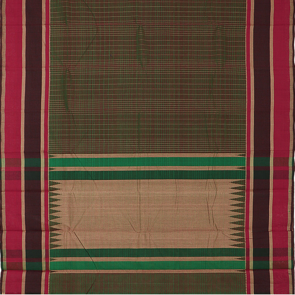 Kanakavalli Kanchi Cotton Sari 071-09-29521 - Full View
