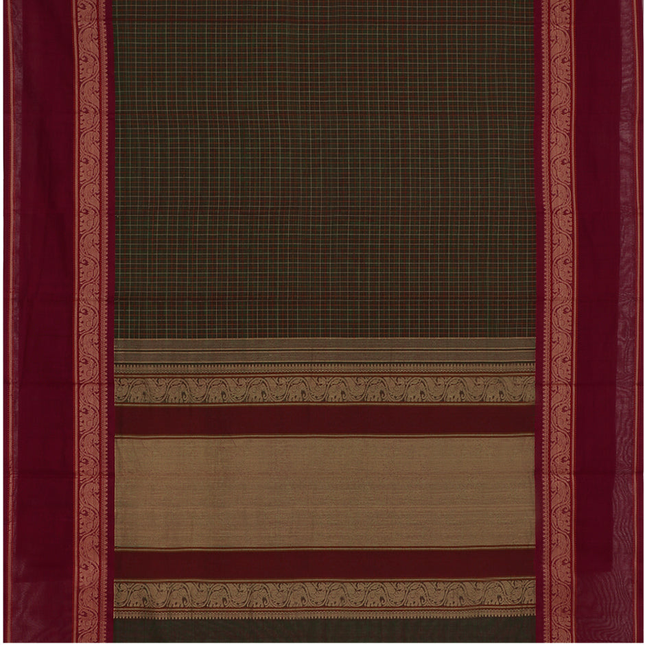Kanakavalli Kanchi Cotton Sari 071-09-45756 - Full View