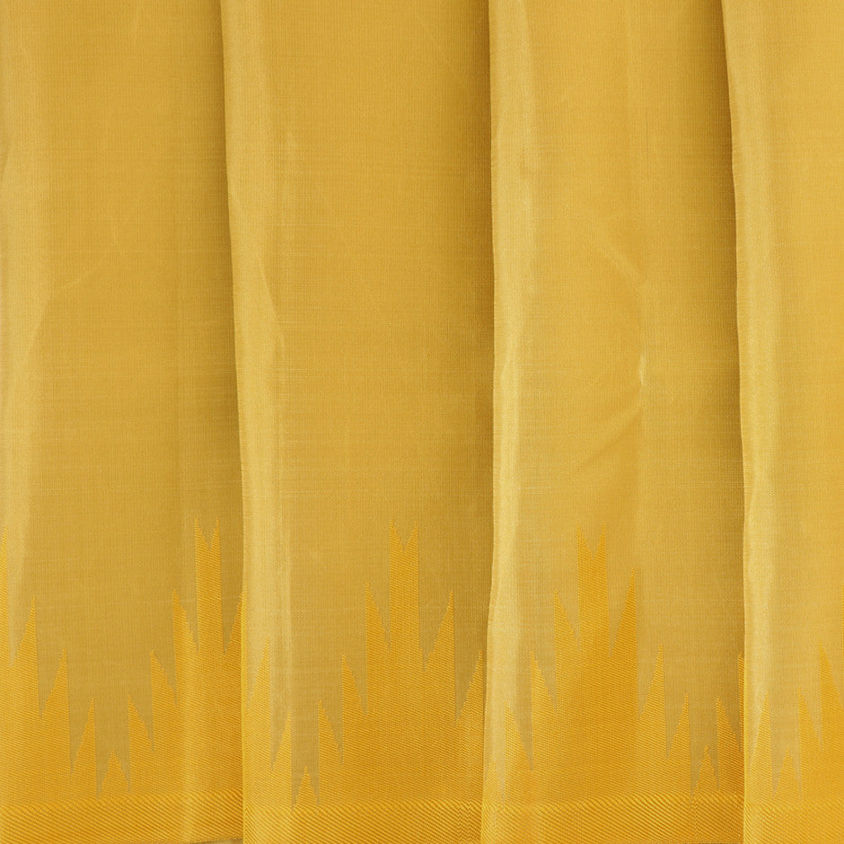 Kanakavalli Kanjivaram Silk Pavadai Length 011-16-29771 - Pleated View