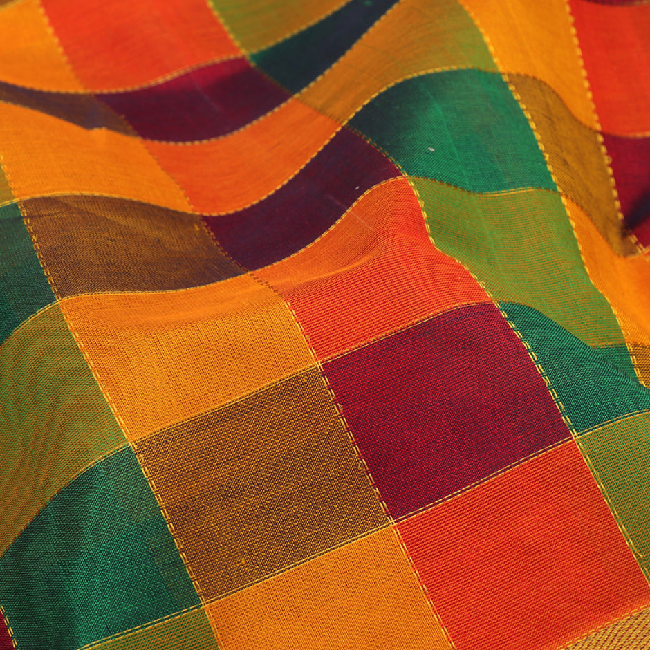 Kanakavalli Silk/Cotton Sari 550-08-92963- Fabric View