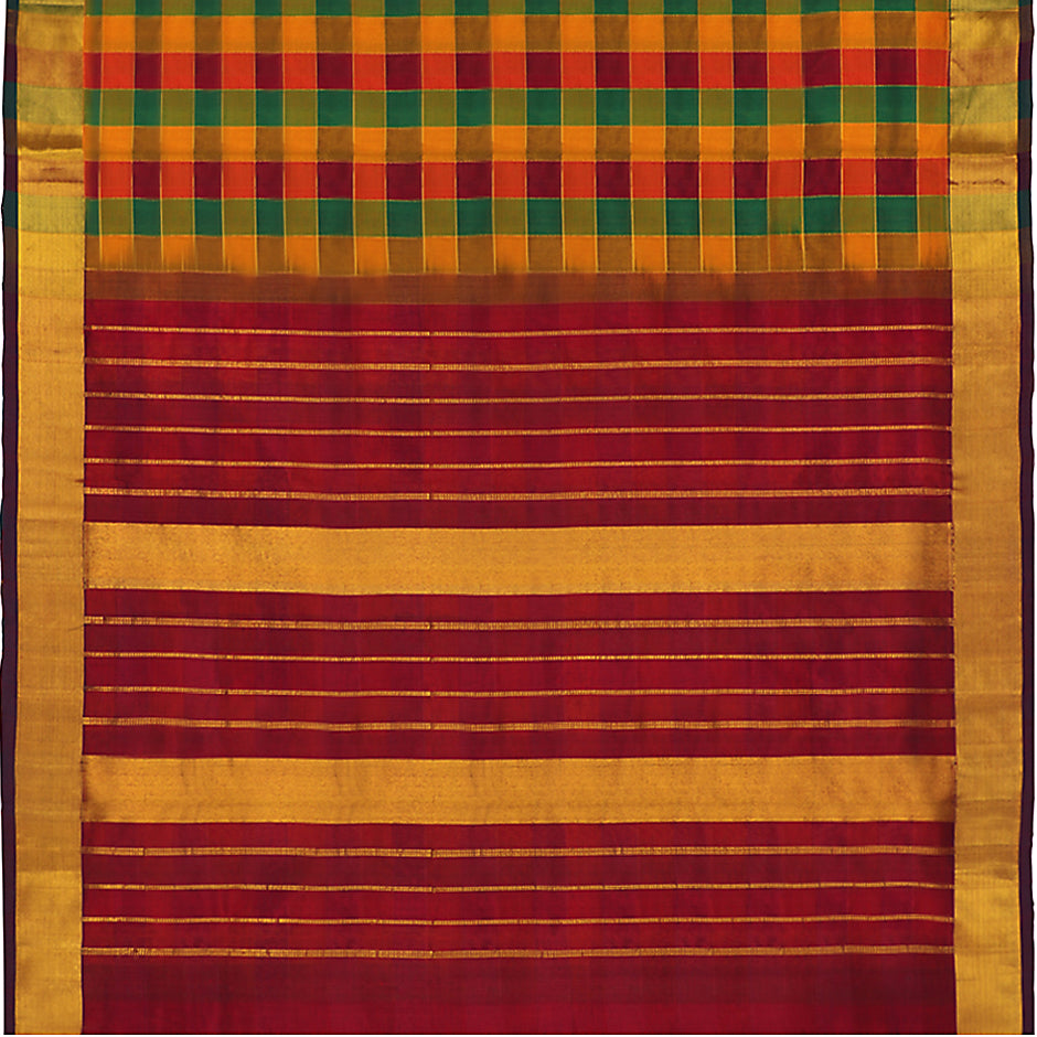 Kanakavalli Silk/Cotton Sari 550-08-92963 - Full View