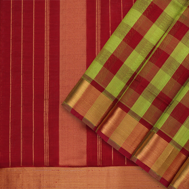 Kanakavalli Silk/Cotton Sari  593-08-102936 - Cover View