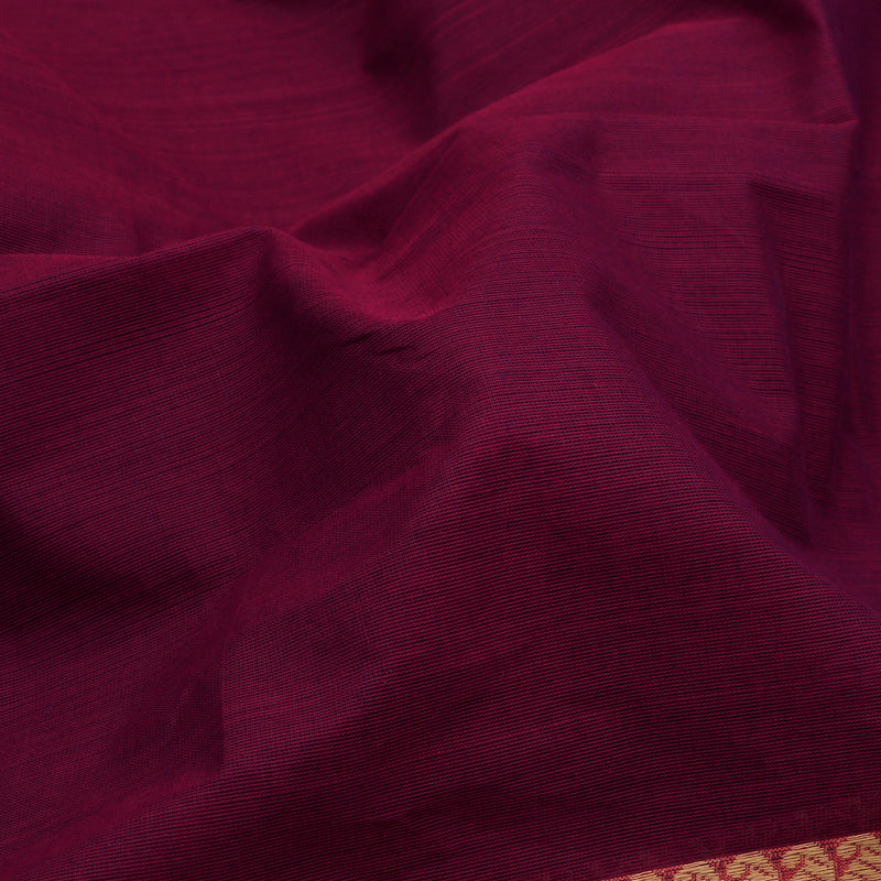 Kanakavalli Kanchi Cotton Sari 598-09-106660 - Fabric View