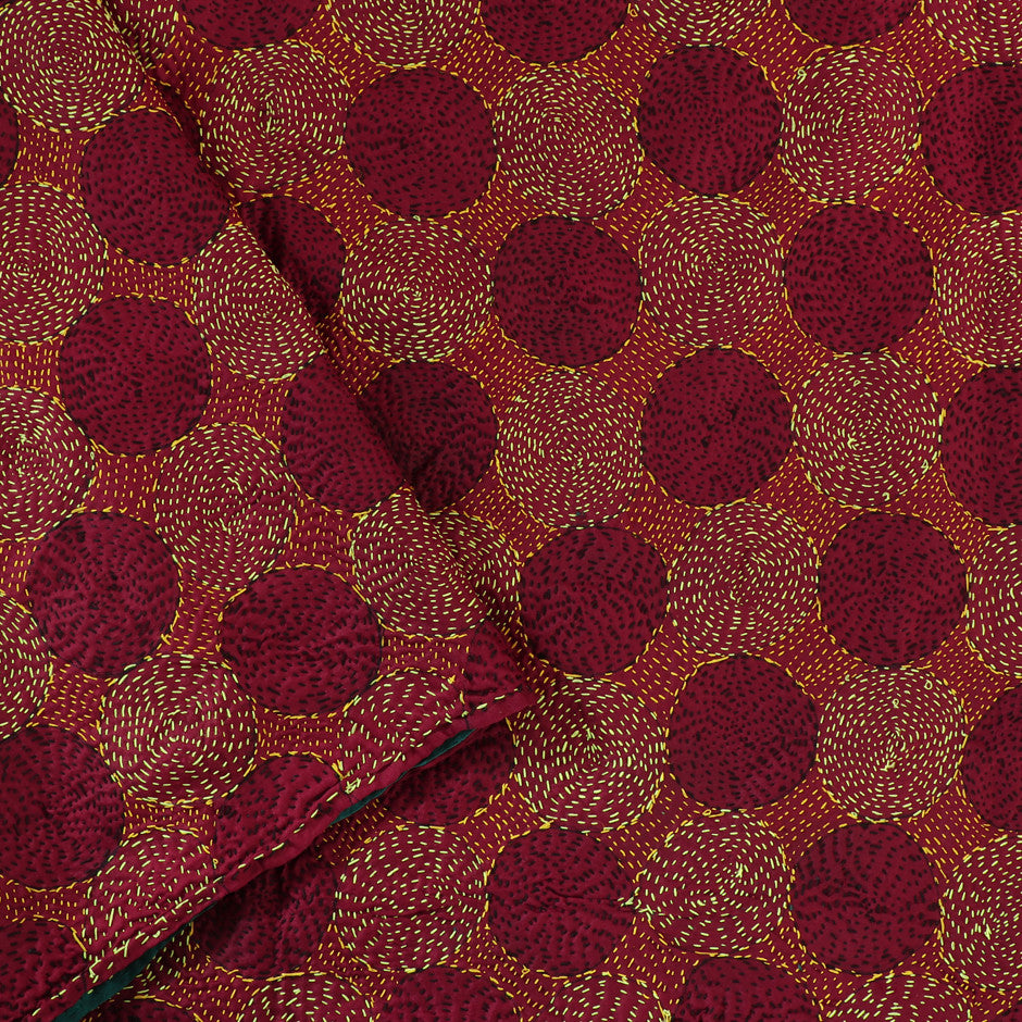 Kanakavalli Kantha Doublefaced Silk Blouse Length 460-06-30192 - Cover View 1