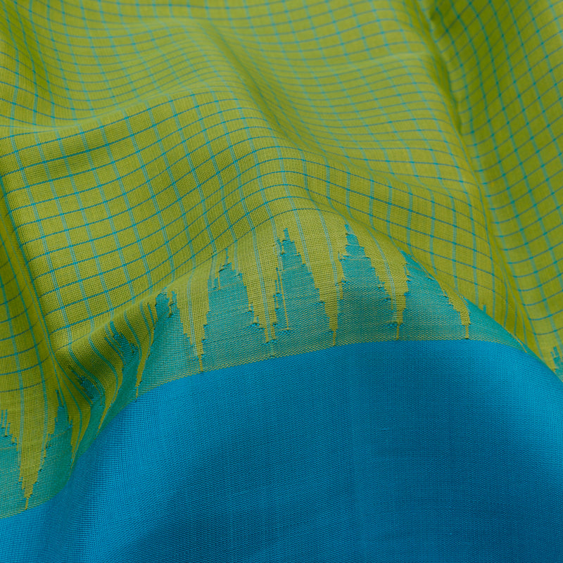 Kanakavalli Gadwal Silk/Cotton Sari 604-08-112301 - Fabric View