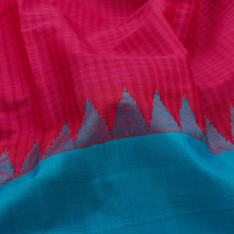 Kanakavalli Gadwal Silk/Cotton Sari 604-08-112318 - Fabric View