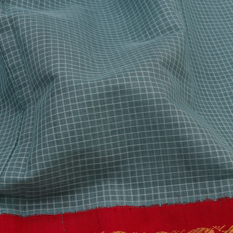 Kanakavalli Gadwal Silk/Cotton Sari 604-08-112322 - Fabric View