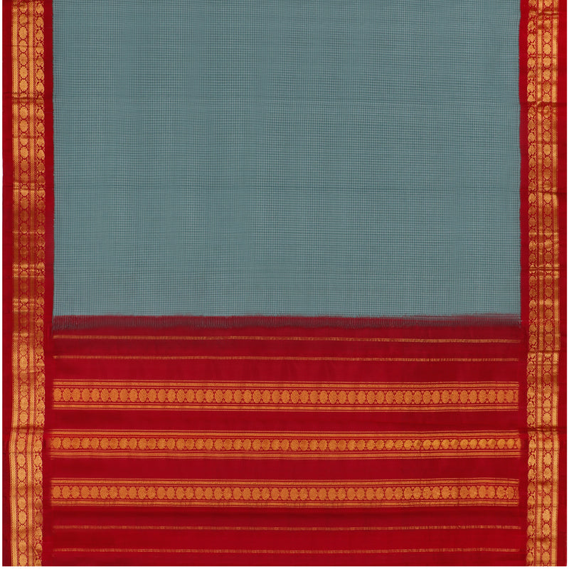 Kanakavalli Gadwal Silk/Cotton Sari 604-08-112322 - Full View