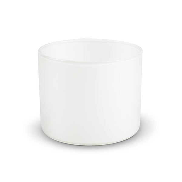 ZILLA WHITE LARGE SOY CANDLE 450ML, DOUBLE WICKED.