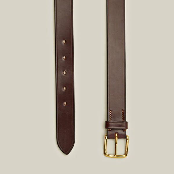 Bridle Leather Belt, Burgundy
