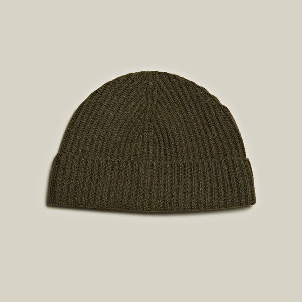 Ribbed Cashmere Hat, Loden