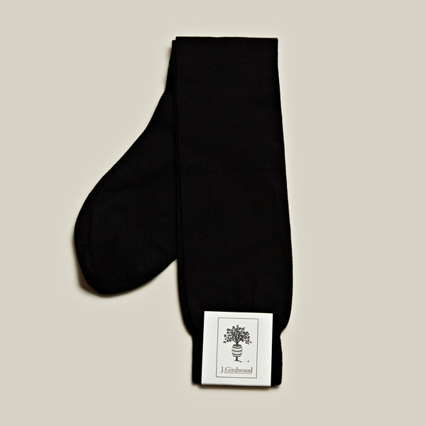 Cotton Long Socks, Black