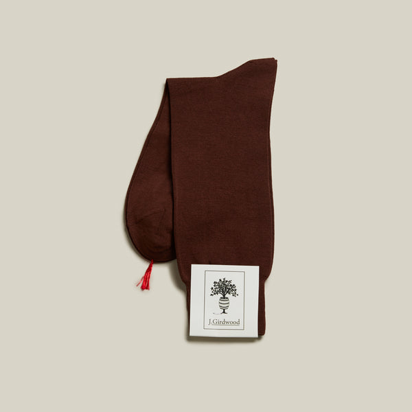 Cotton Mid-Calf Socks, Brown