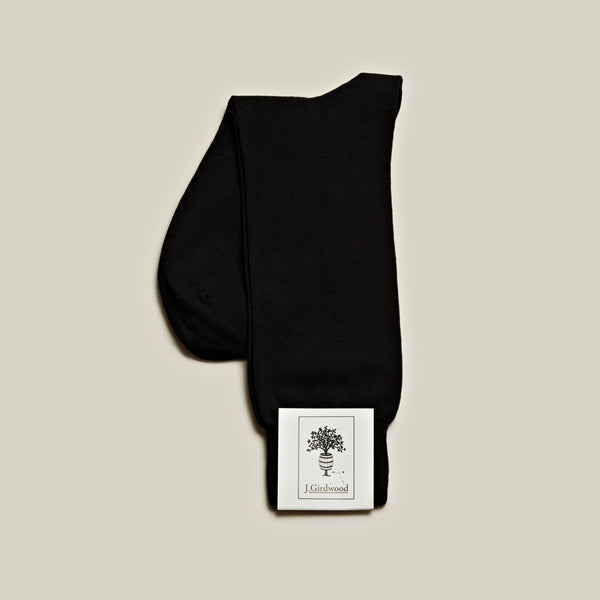 Cotton Mid-Calf Socks, Black