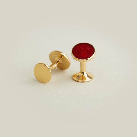 Enamel Cufflinks - Wine