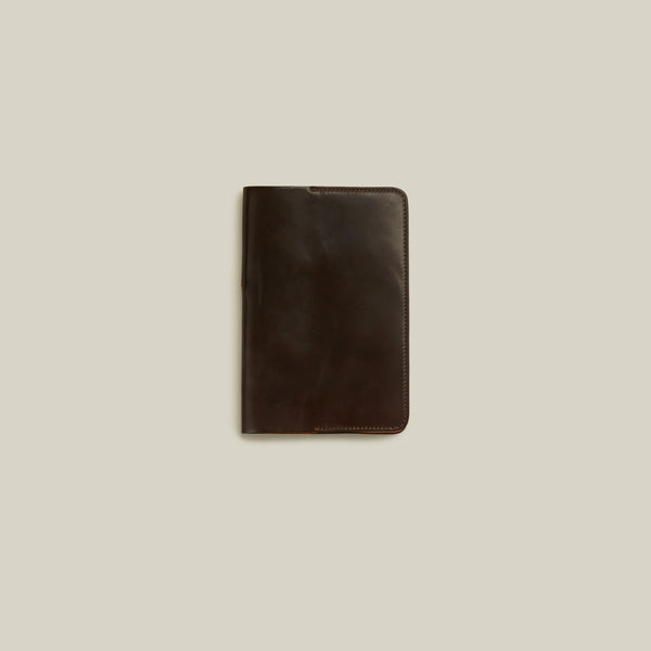 Cordovan Notebook Cover, Oxblood - Back in Stock