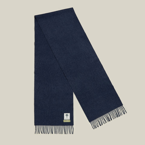 Brushed Escorial Scarf, Blue Melange