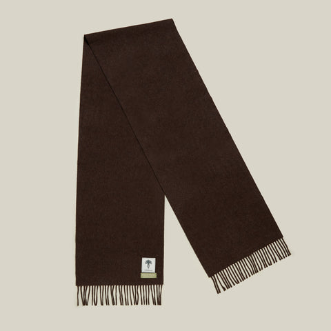 Brushed Escorial Scarf, Brown Melange