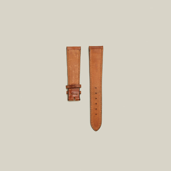Cordovan Lined Watch Strap, Natural w/ Tonal Stitching