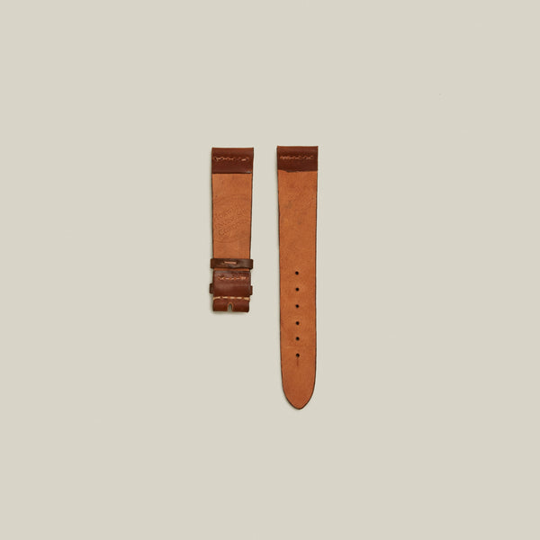 Cordovan Un-lined Watch Strap, Natural