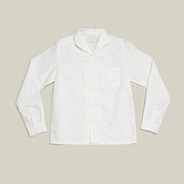 Open Collared L/S Shirt, Off White