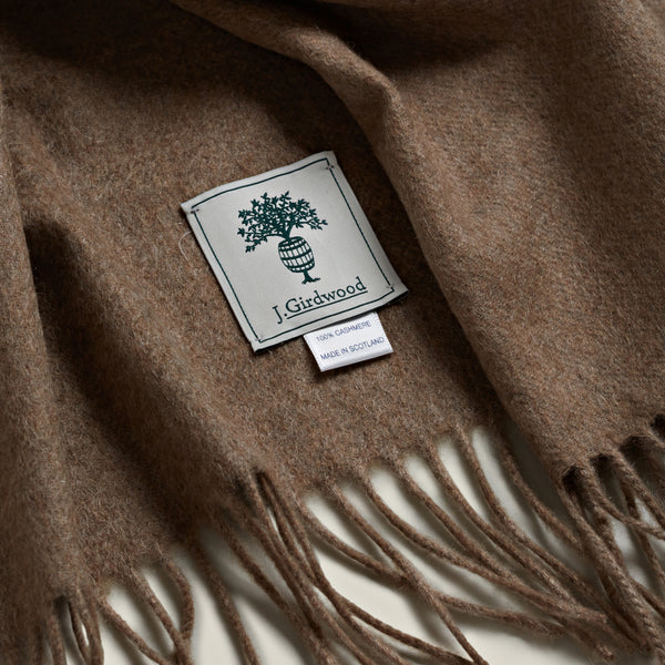 Solid Cashmere Scarf, Natural